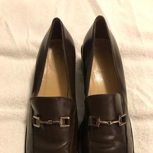 Ladies Gucci Loafers Rich Brown w: Silver Bit 9.5